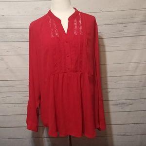 Torrid sz 3 red long sleeve top